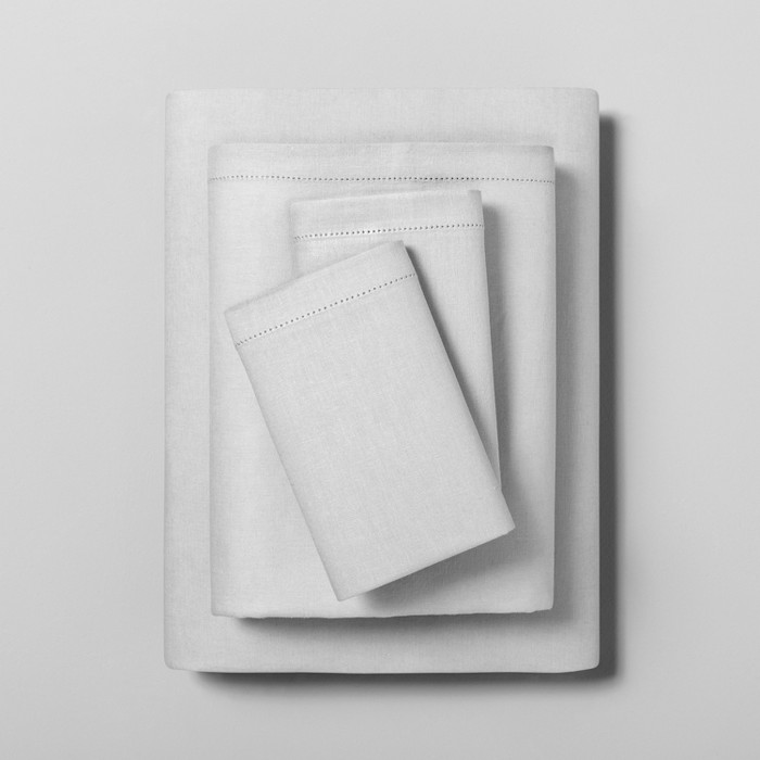 Linen Blend Sheet Set with Hem Stitch - Hearth & Hand™ with Magnolia - image 1 of 2