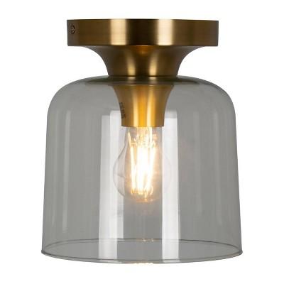 Glass Flush Mount Ceiling Light Brass - Threshold™