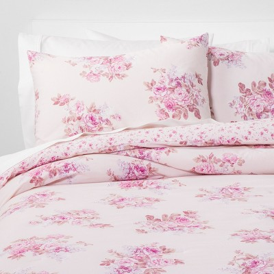 King Bouquet Comforter Set Pink Blush - Simply Shabby Chic®
