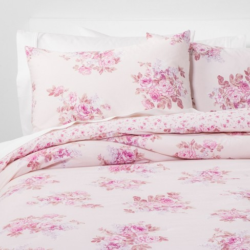 Bouquet Comforter Set Pink Blush