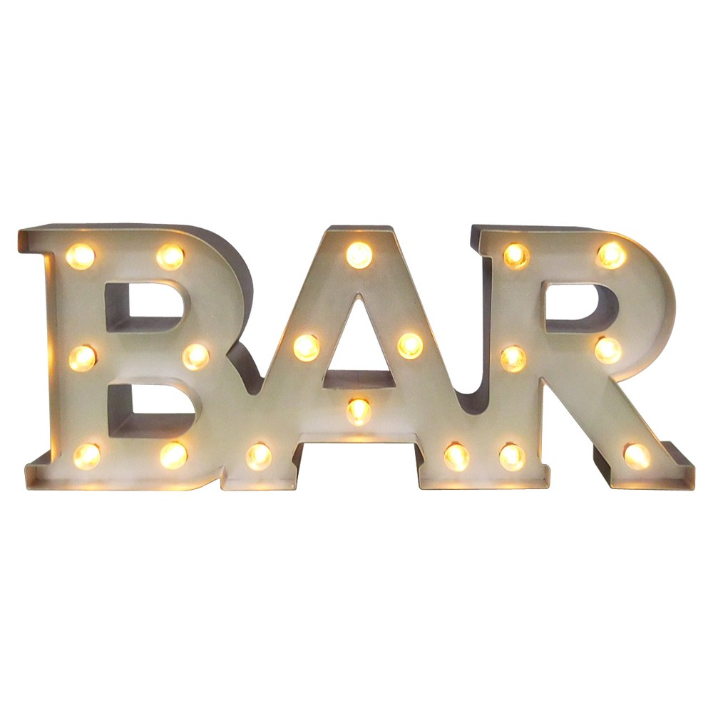 Image of Bar Marquee LED Light Brass - Threshold , Silver