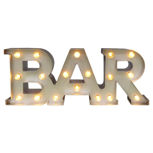 Bar Marquee LED Light Brass - Threshold™ - image 1 of 4