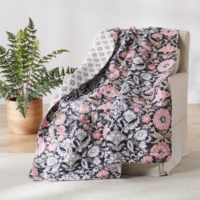 Loretta Floral Quilted Throw - Levtex Home