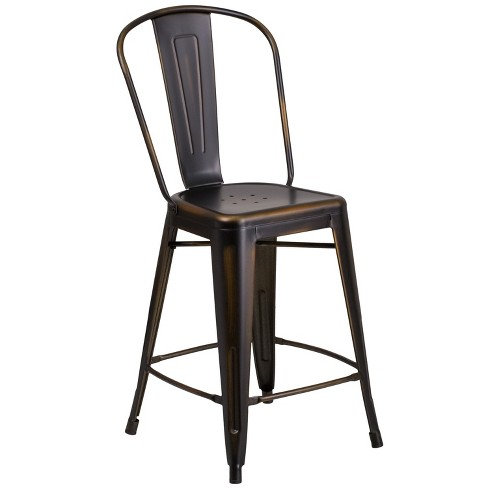 Distressed Metal Stool - Riverstone Furniture Collection - image 1 of 4