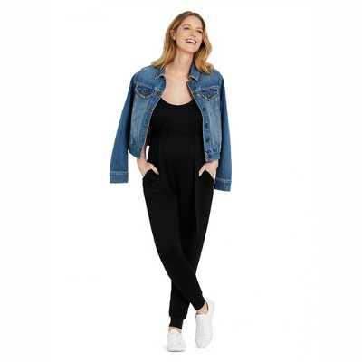 Motherhood Maternity | French Terry Jogger Maternity Jumpsuit
