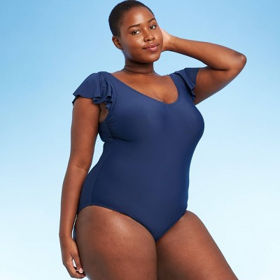 Women's Plus Size Bonnie One Piece Swimsuit - Sea Angel Navy