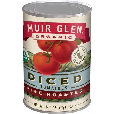 Muir Glen Fire Roasted Diced Tomatoes - 14oz