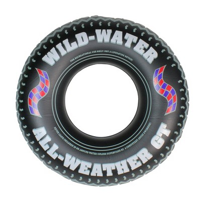 Swim Central Inflatable Black and White Monster Tire Inner Tube, 36-Inches