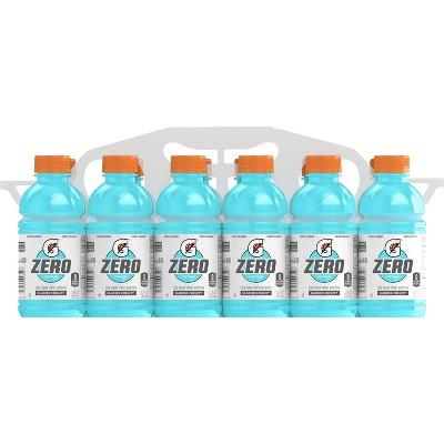 Gatorade G Zero Glacier Freeze Sports Drink - 12pk/12 fl oz Bottles