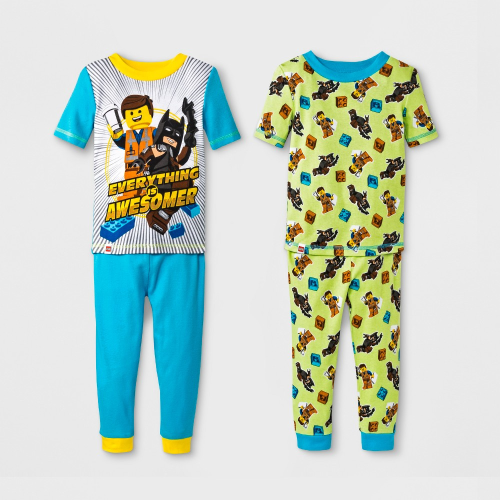 Toddler Boys' Lego 4pc Pajama Set - Blue 5T