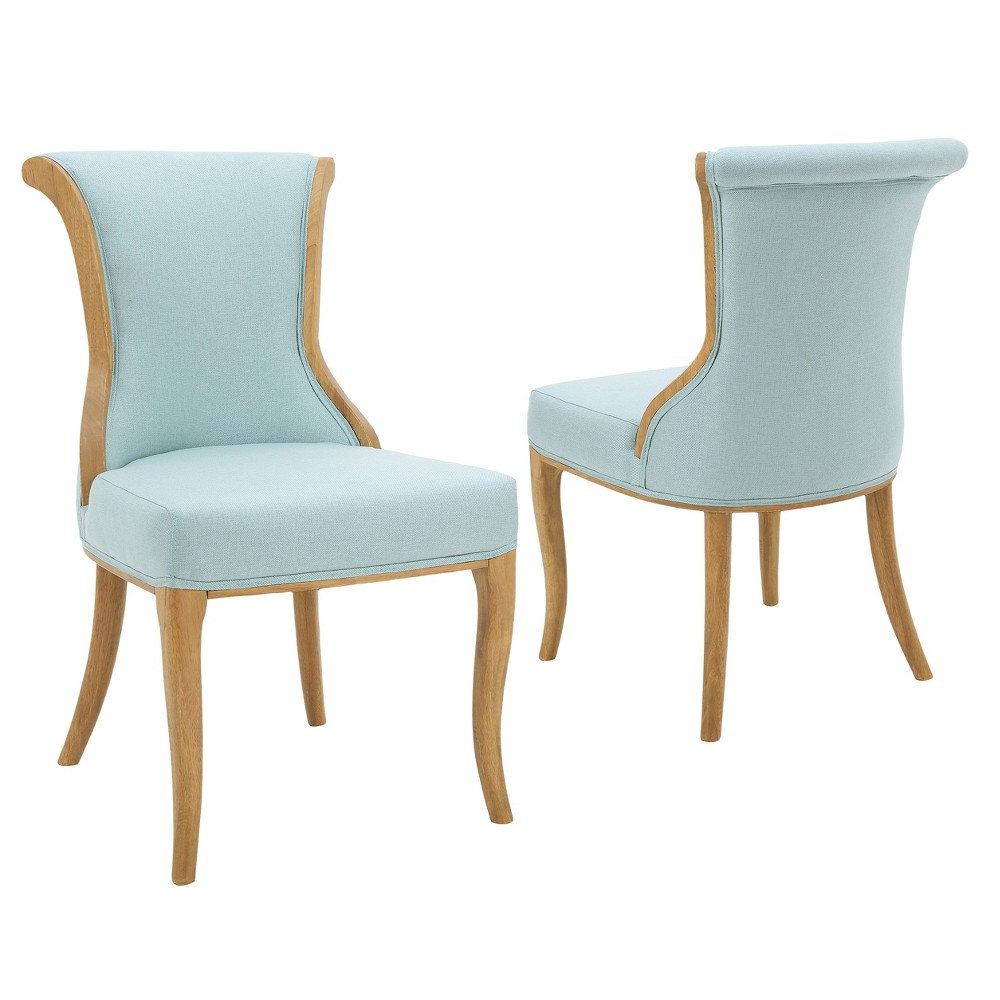 Lexia Dining Chair - Light Blue (Set of 2) - Christopher Knight Home