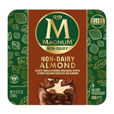Magnum Non-Dairy Vegan Frozen Dessert Almond Ice Cream Bar - 3ct