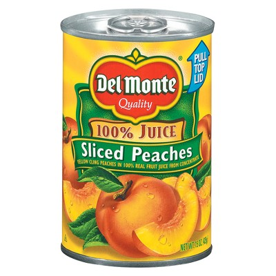 Del Monte Yellow Cling Peach Slices in 100% Real Fruit Juice 15oz