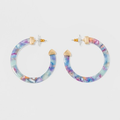 Sugarfix By Bauble Bar Resin Hoop Earrings by Sugar Fix By Bauble Bar
