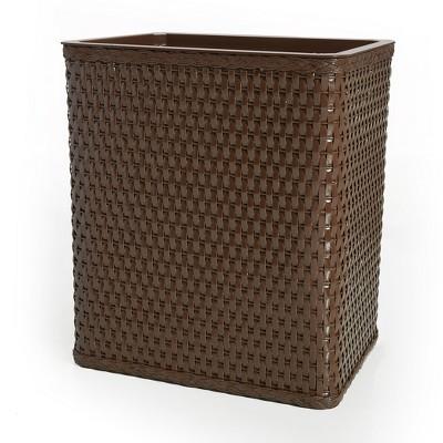 Carter Rectangular Bathroom Wastebasket Chocolate LaMont Home