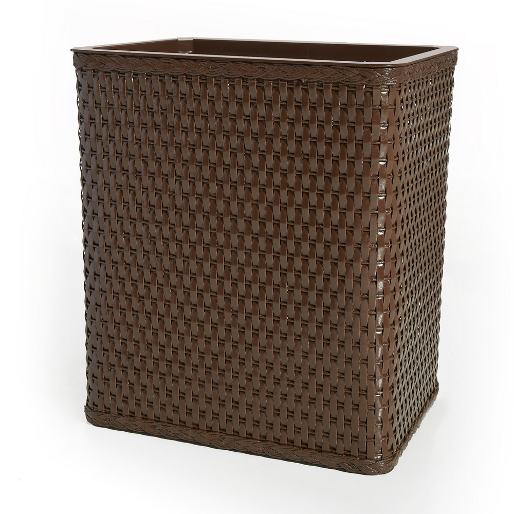 Image of Carter Rectangular Bathroom Wastebasket Chocolate (Brown) LaMont Home