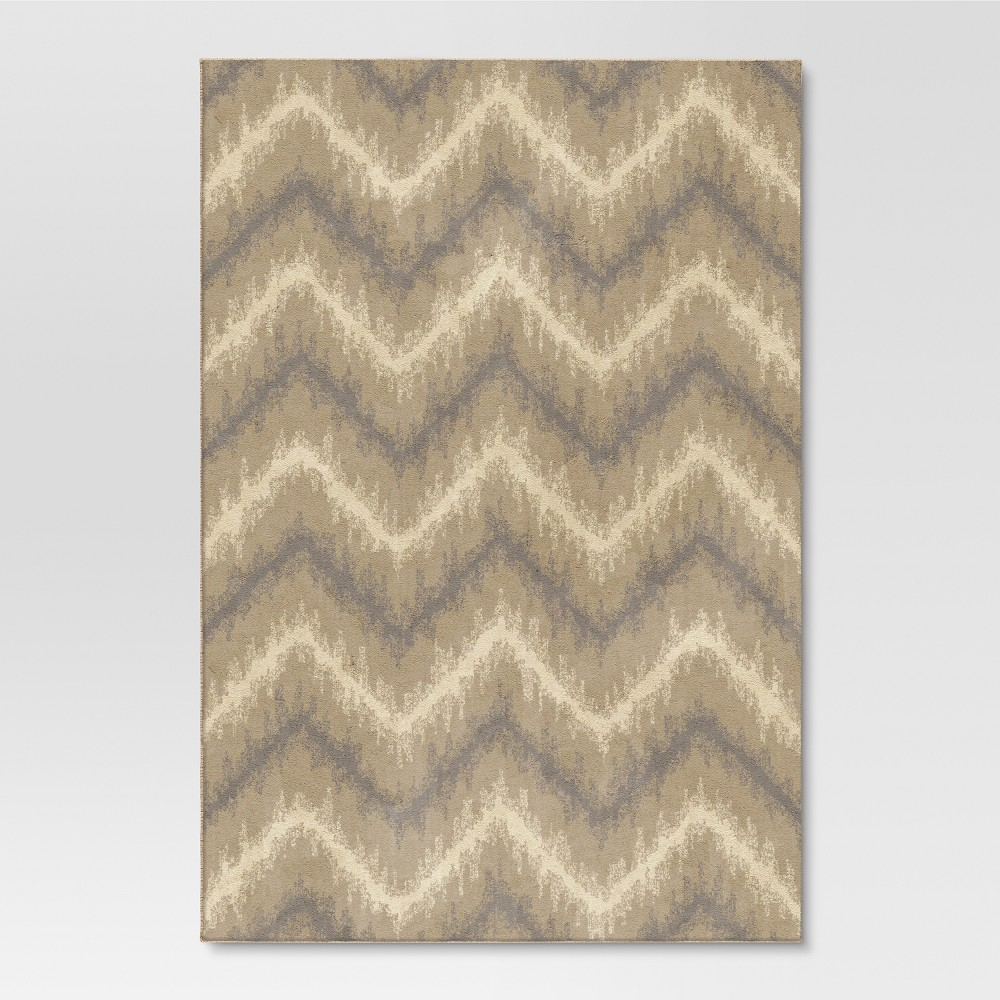 Chevron Ikat Adobe Rug - Buff Beige - (7'10