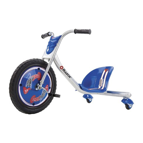 Razor Rip Rider 360 Drifting Ride On Toddler Big Wheel Tricycle with MX Style Handlebar for Kids Ages 5 & Up, Blue - image 1 of 4