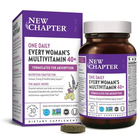 New Chapter Women's 40+ One Daily Multivitamin Tablets - 30ct - image 1 of 4