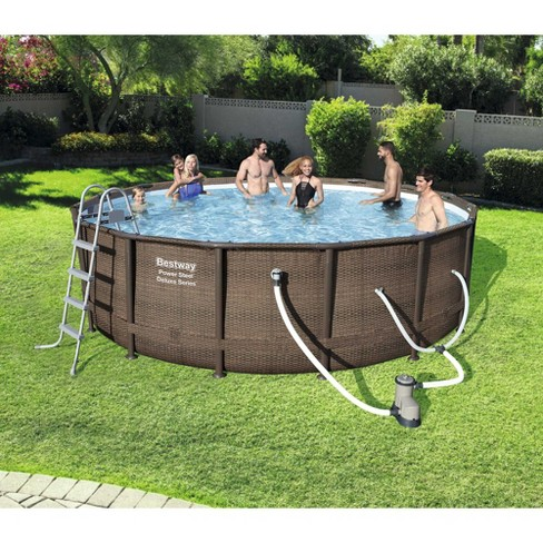 Bestway 14 X 42 Steel Frame Above Ground Swimming Pool Set With Pump Target