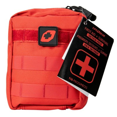 Life+Gear 116pc First Aid Survival Kit Soft Dry Bag