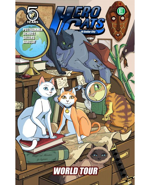 Hero Cats of Stellar City 4 : World Tour (Paperback) (Kyle Puttkammer) - image 1 of 1