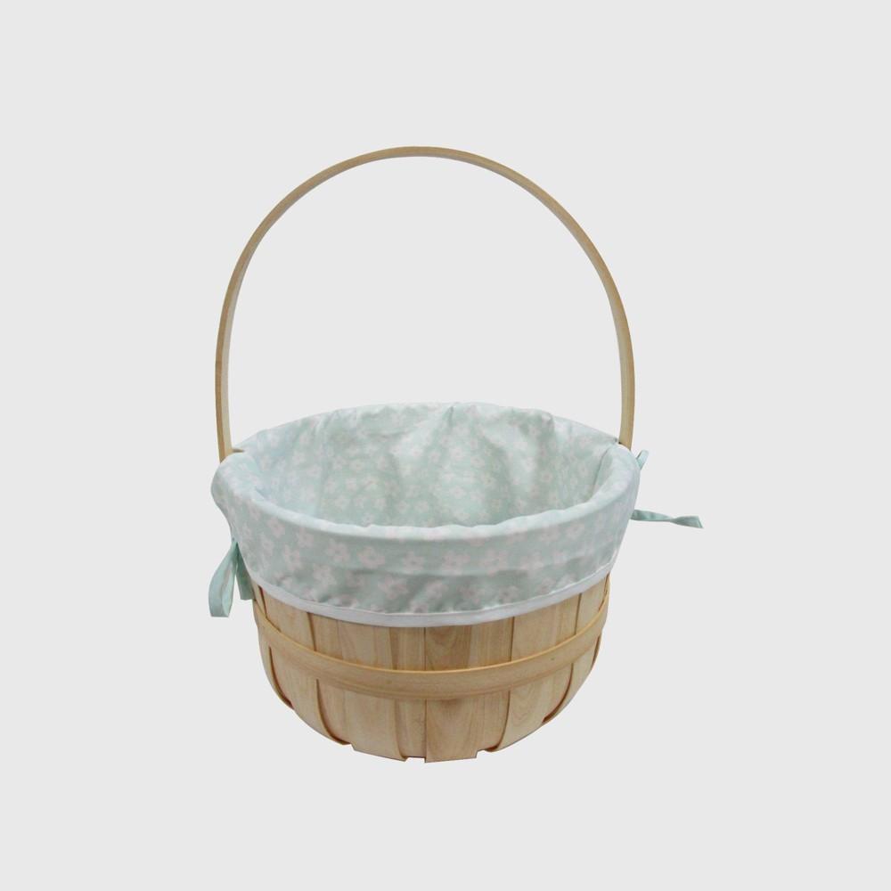 """Image of """"12"""""""" Chipwood Easter Basket With Flower Blue Liner - Spritz"""""""