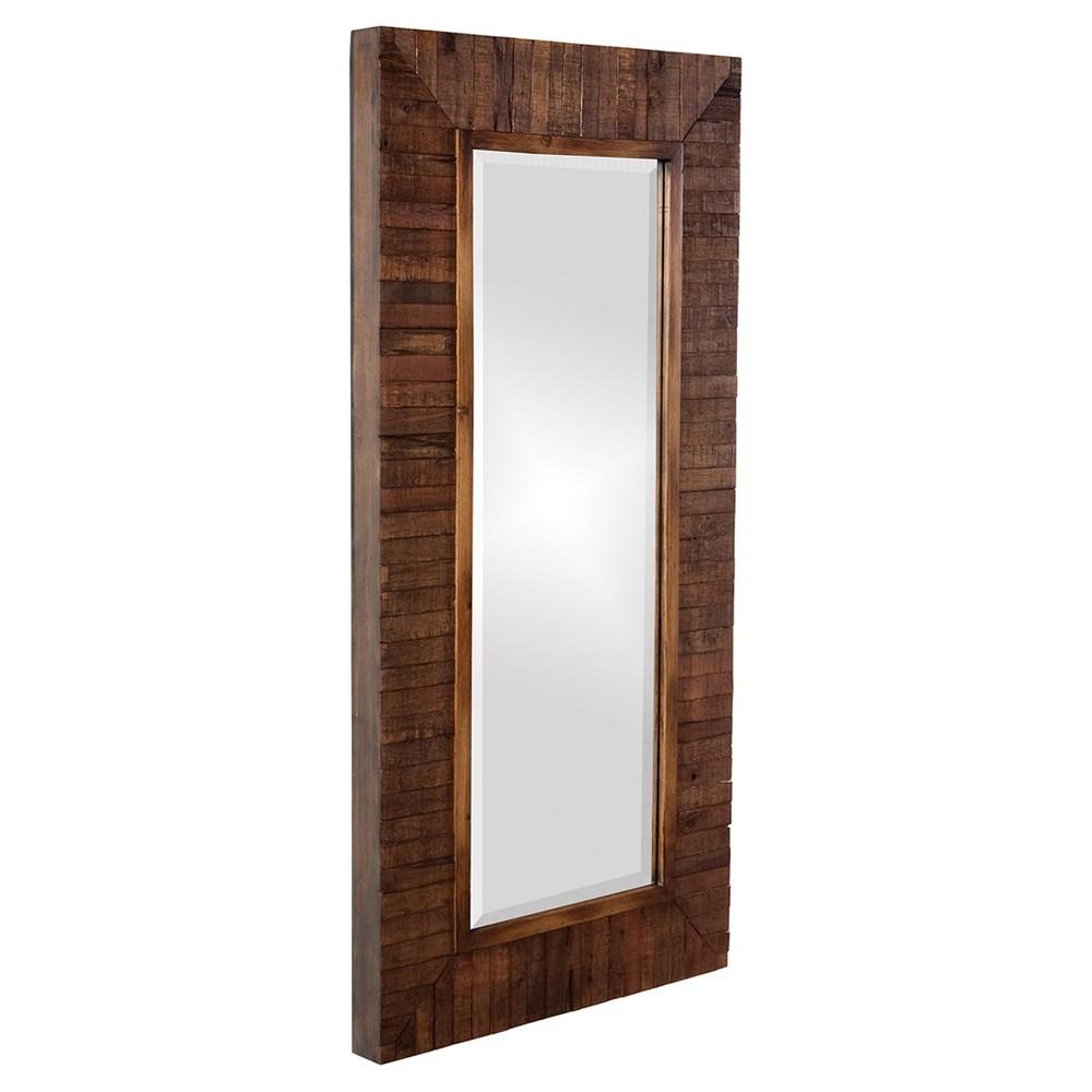 Rectangle Timberlane Decorative Wall Mirror Brown - Howard Elliott