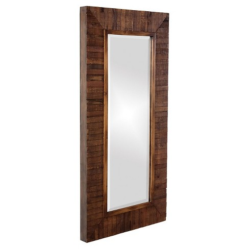 Rectangle Timberlane Decorative Wall Mirror Brown - Howard Elliott - image 1 of 1
