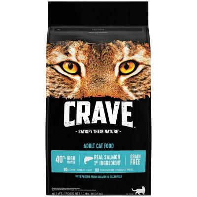 Crave Grain Free with Salmon & Ocean FIsh Adult Premium Dry Cat Food - 10lbs