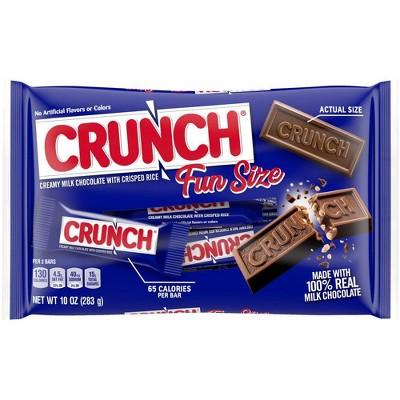 Crunch Fun Size Chocolate Bar 10oz Bag
