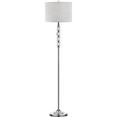 """60"""" Lombard Street Floor Lamp Clear/Chrome (Includes CFL Light Bulb) - Safavieh"""