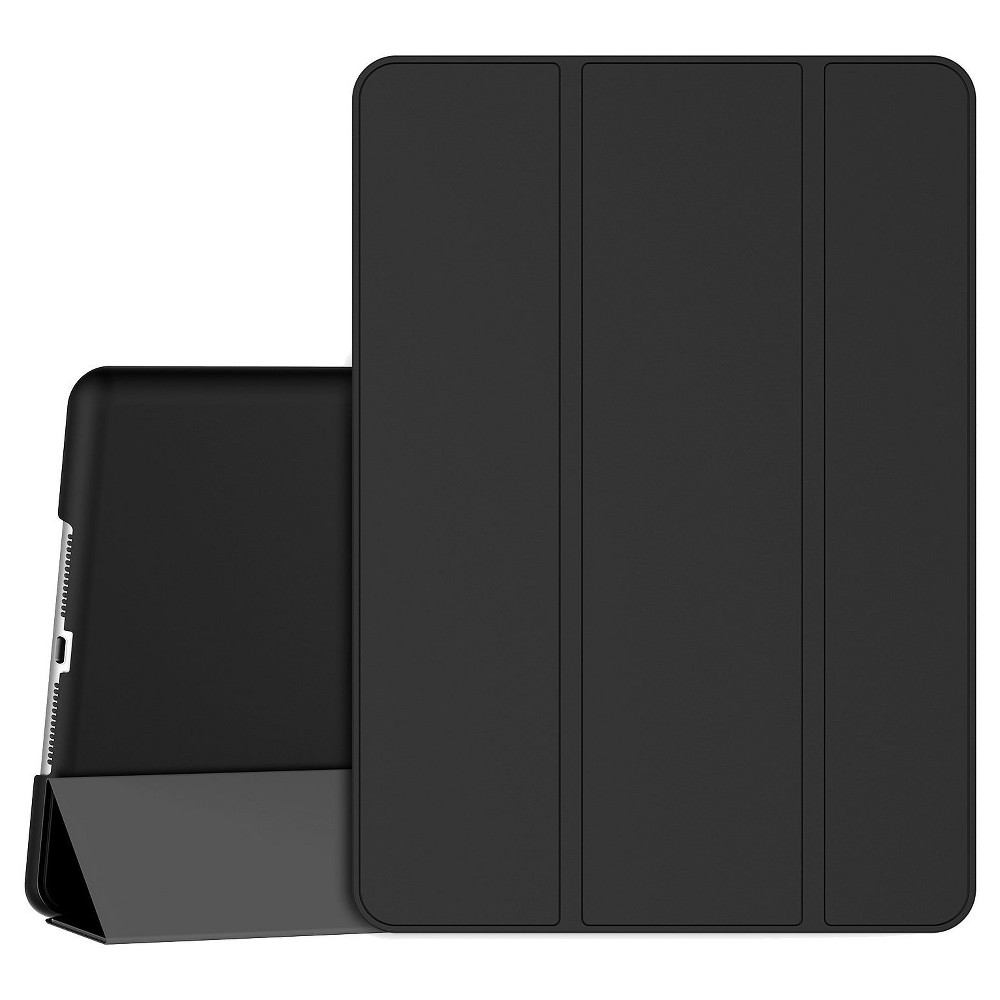 SuprJETech iPad 9.7 (2017 Model) Slim-Fit Smart Case Cover with Auto-Sleep & Wake Feature - Black