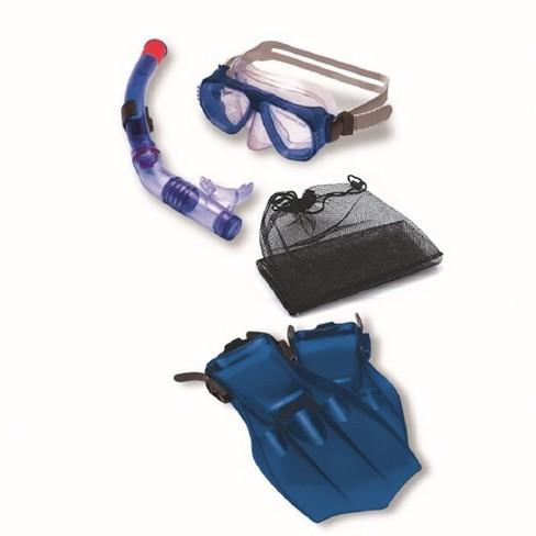 Swimline 4pc Children's Recreational Mask, Snorkel, Fins Swimming Pool and Water Snorkeling Set - Medium - Blue - image 1 of 1