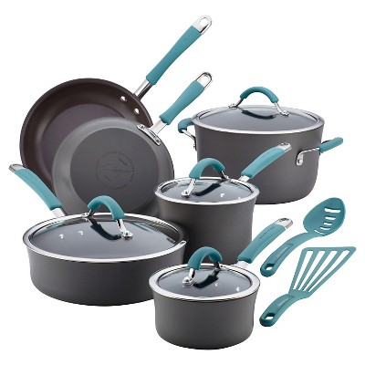 Rachael Ray Cucina 12 piece Hard Anodized Cookware Set - Blue