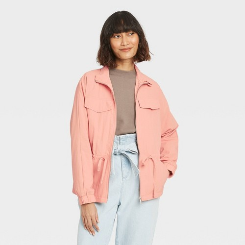 Women S Anorak Jacket A New Day Coral XXL Pink