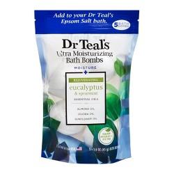 Dr Teal's Rejuvenating Eucalyptus & Spearmint Ultra Moisturizing Bath Bombs - 5ct