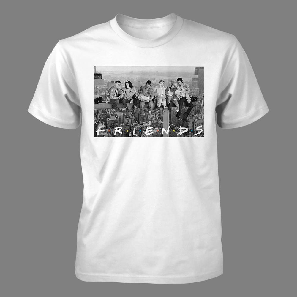 Best Men Friends Short Sleeve Graphic T Shirt White S