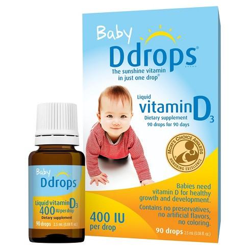 f104b4a9b663 Ddrops Baby Vitamin D Liquid Drops - 2.5ml   Target