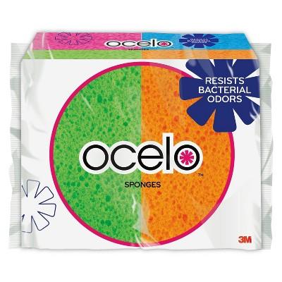 ocelo Handy Sponge Assorted Colors - 4pk