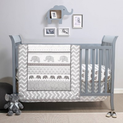PS by The Peanutshell Elephant Walk Crib Bedding Set - 3pc