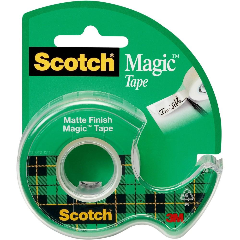 Scotch Magic Tape, Clear, 1/2 in x 800 in