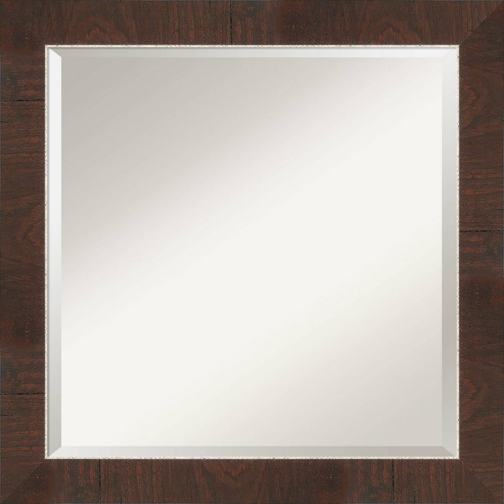24 34 X 24 34 Wildwood Framed Bathroom Vanity Wall Mirror Brown Amanti Art