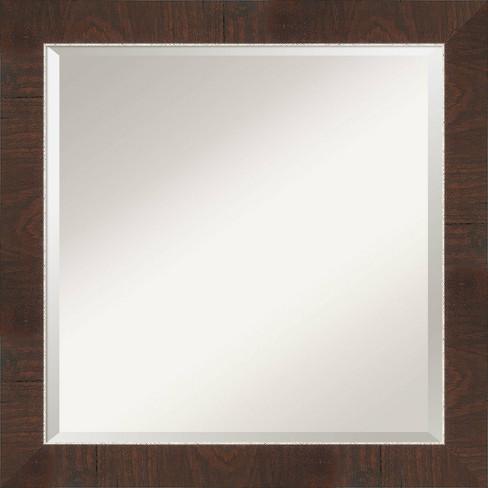 24 X 24 Wildwood Framed Bathroom Vanity Wall Mirror Brown Amanti Art Target