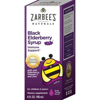 Zarbee's Naturals Children's Elderberry Syrup - 4 fl oz