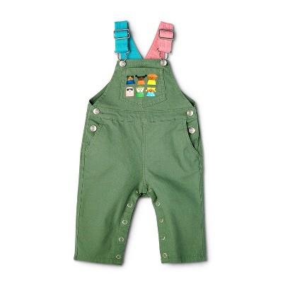 Baby Kids-Print Overalls - Christian Robinson x Target Green