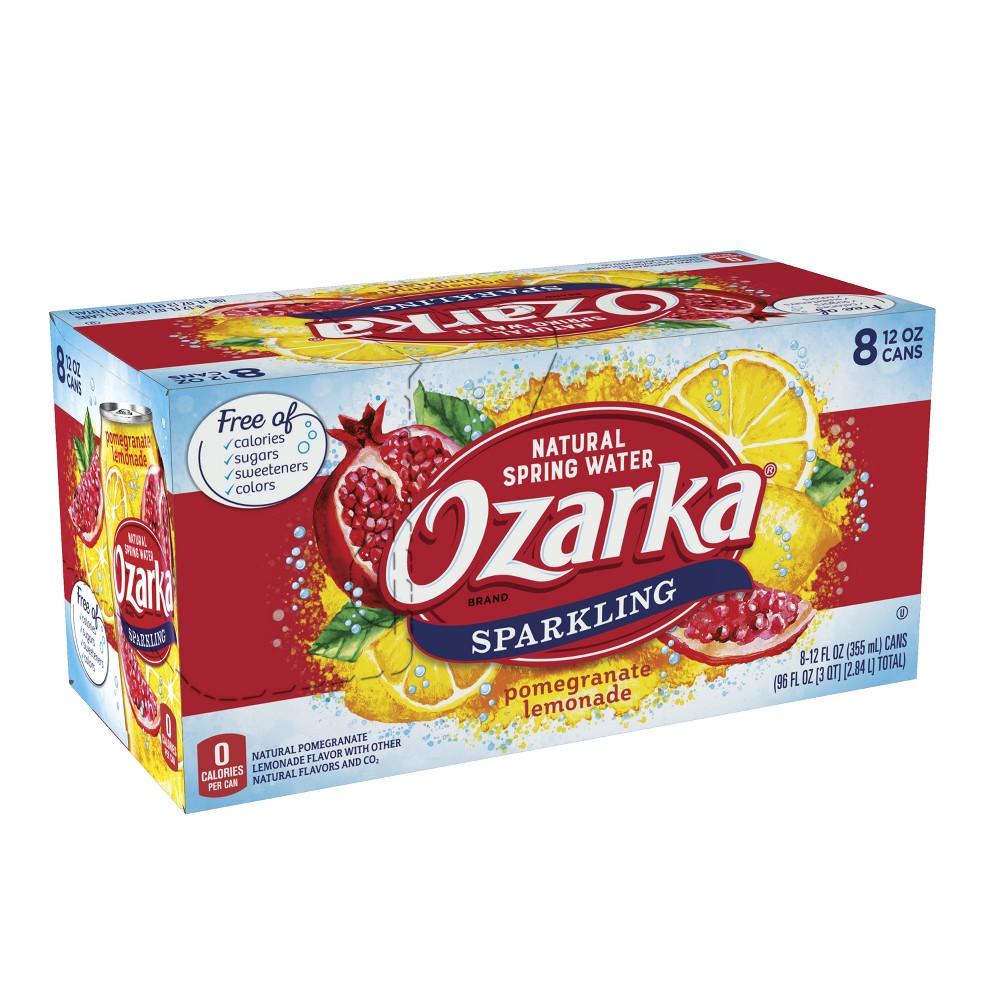 Ozarka Pomegranate Lemonade Flavored Sparkling Water - 8pk/12 fl oz Cans
