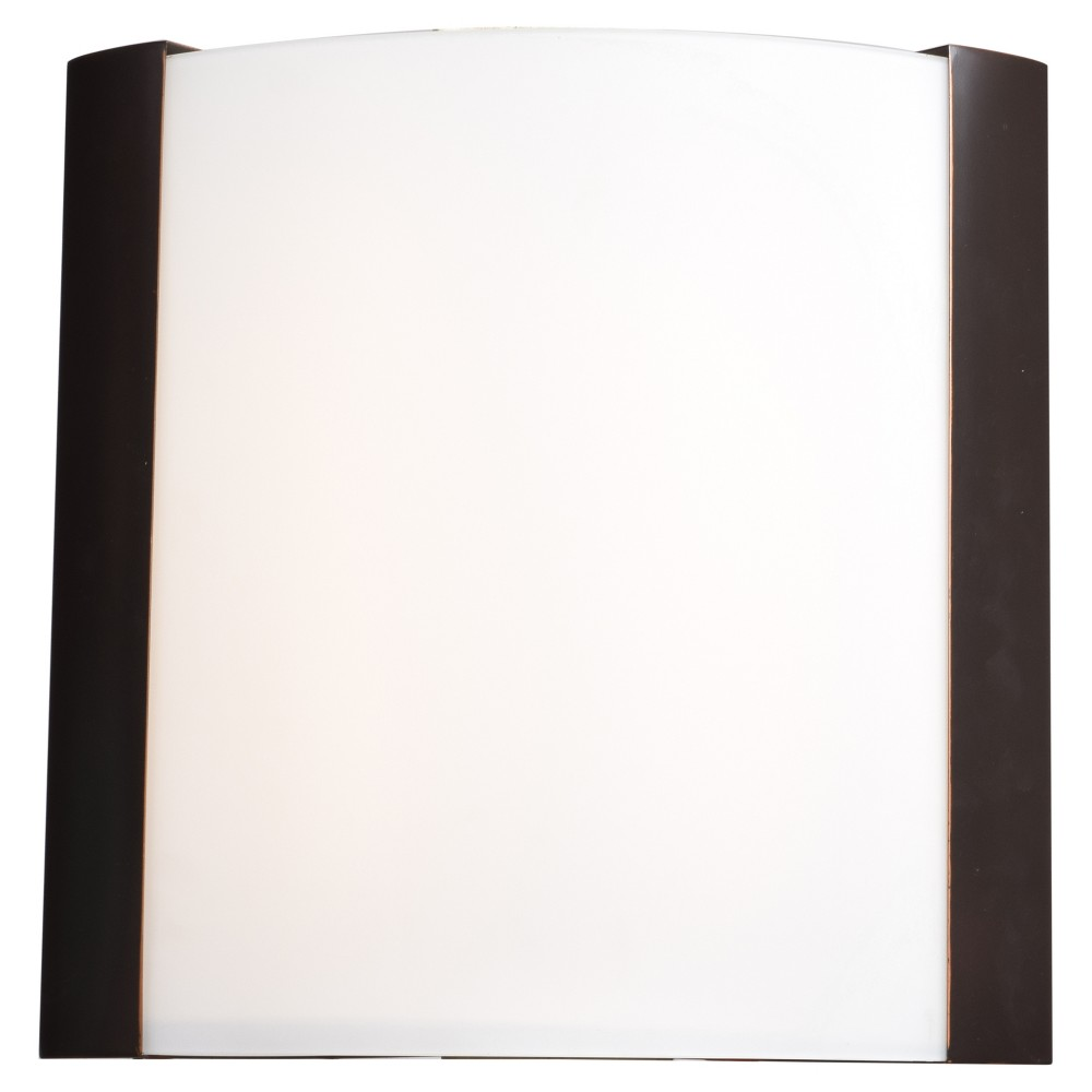 West End 15H Led Wall Sconce - Bronze - Opal Glass Shade, Bronze Cloud