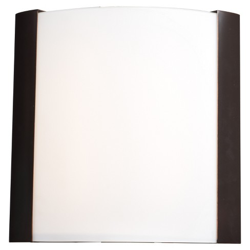 "West End 15""H LED Wall Sconce - Bronze - Opal Glass Shade - image 1 of 3"