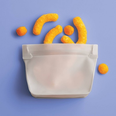 2pk PEVA Reusable Snack Bag Sandstorm - Room Essentials™